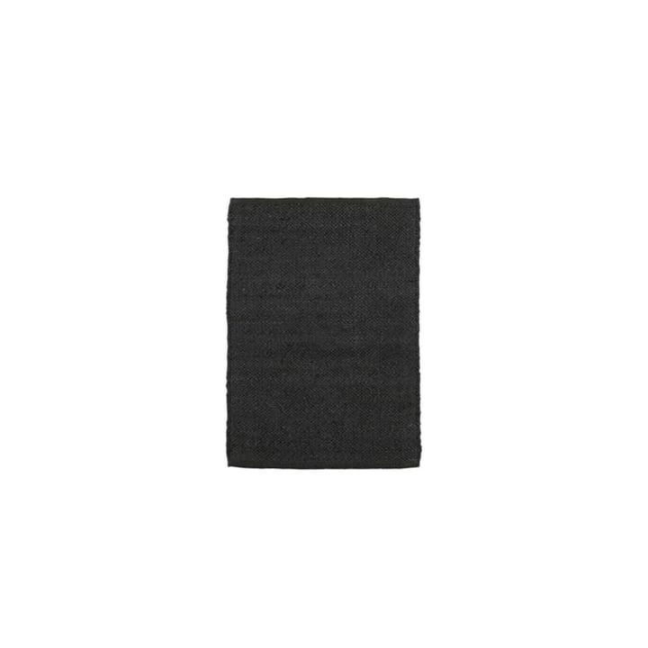 The Hempi carpet from House Doctor in black, 90 x 60 cm