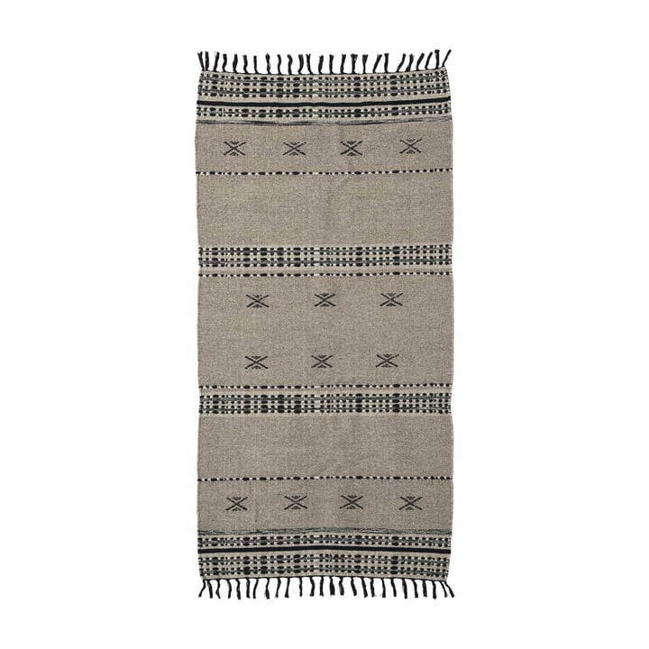 The Cros carpet runner from House Doctor in sand, 200 x 90 cm