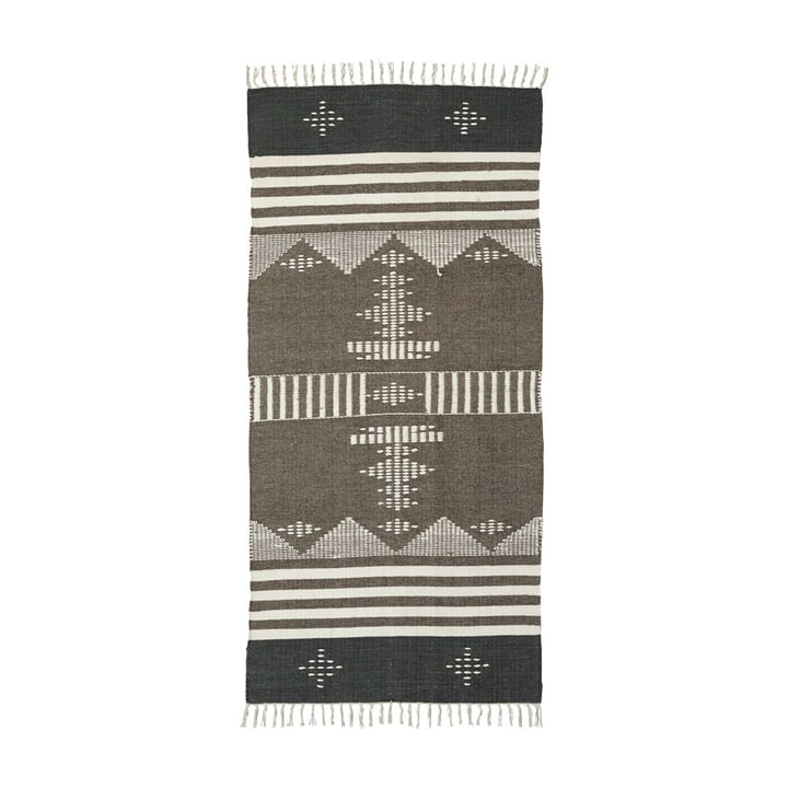 The Coto carpet runner from House Doctor in brown, 200 x 90 cm
