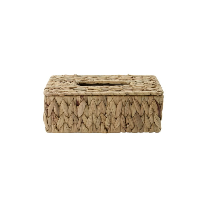 The Clean cosmetic tissue box from House Doctor in natural, raffia wickerwork