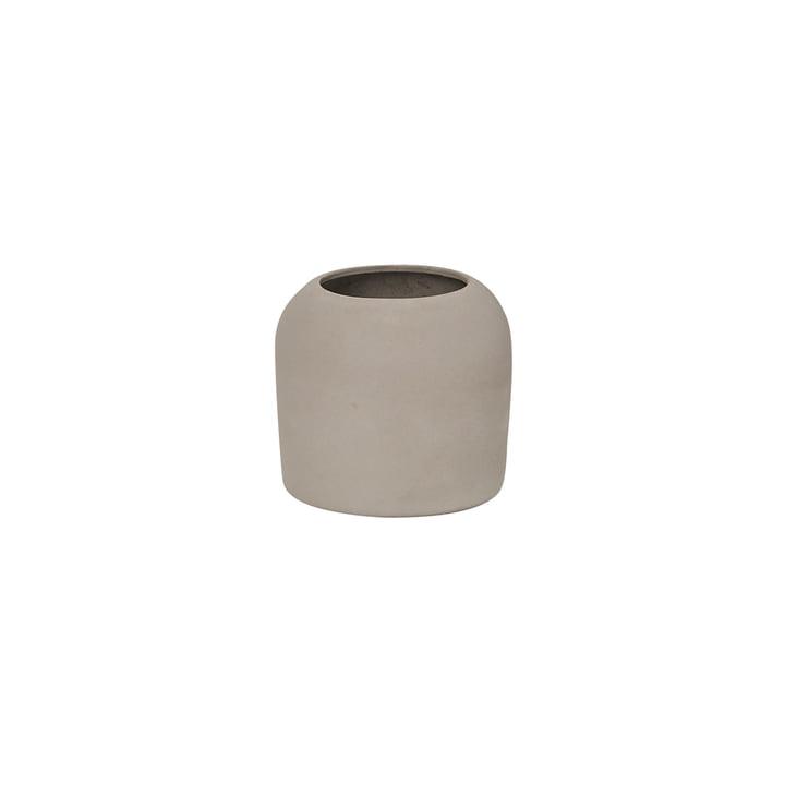 Dome Vase XS Ø 16 x H 14 cm, grey from Kristina Dam Studio