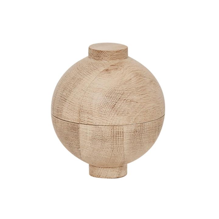Wooden Sphere Storage XL Ø 16 x H 18 cm, oak from Kristina Dam Studio