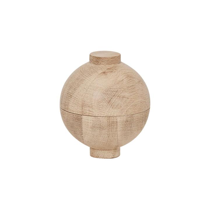 Wooden Sphere Storage Ø 12 x H 15 cm, oak from Kristina Dam Studio
