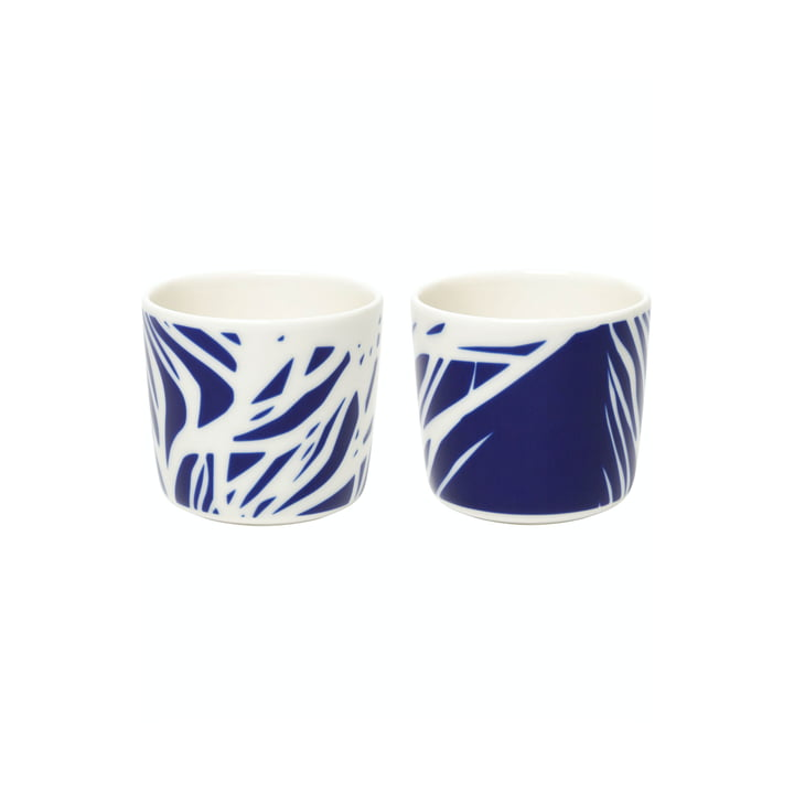 The Ruudut mugs by Marimekko (set of 2), 200 ml, white / blue
