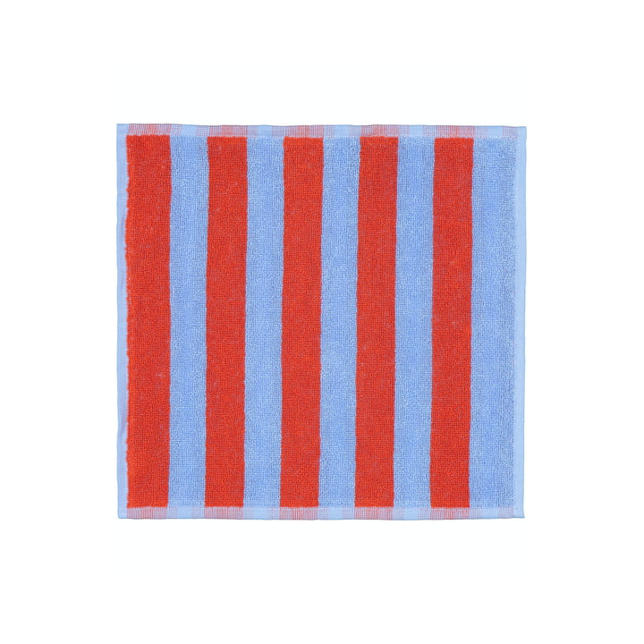 Marimekko - Kaksi Raitaa Mini towel 30 x 30 cm, blue / red