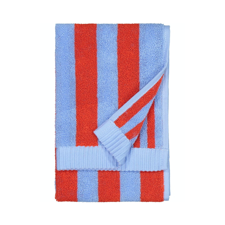Marimekko - Kaksi Raitaa Guest towel 30 x 50 cm, blue / red