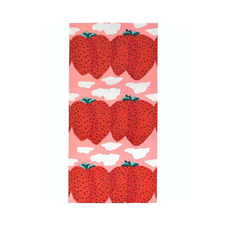 Marimekko - Mansikkavuoret Tablecloth 140 x 280 cm, pink / red