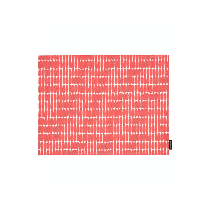The Alku placemat by Marimekko, 31 x 42 cm, white / red