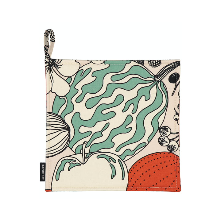 The Vihannesmaa potholder from Marimekko in cotton white / red / green
