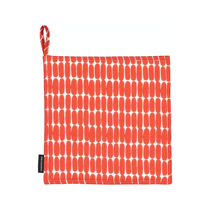 The Alku potholder by Marimekko, white / red