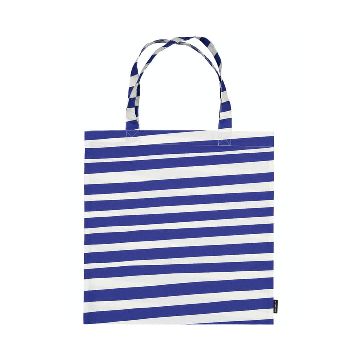 The Uimari shopping bag from Marimekko in white / blue