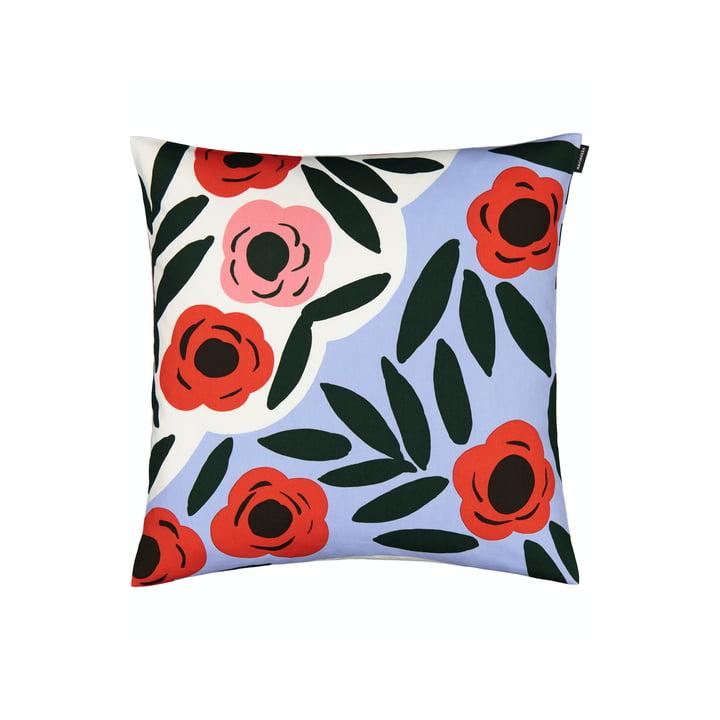 The Ruukku pillowcase by Marimekko, 50 x 50 cm, light blue / red / dark green