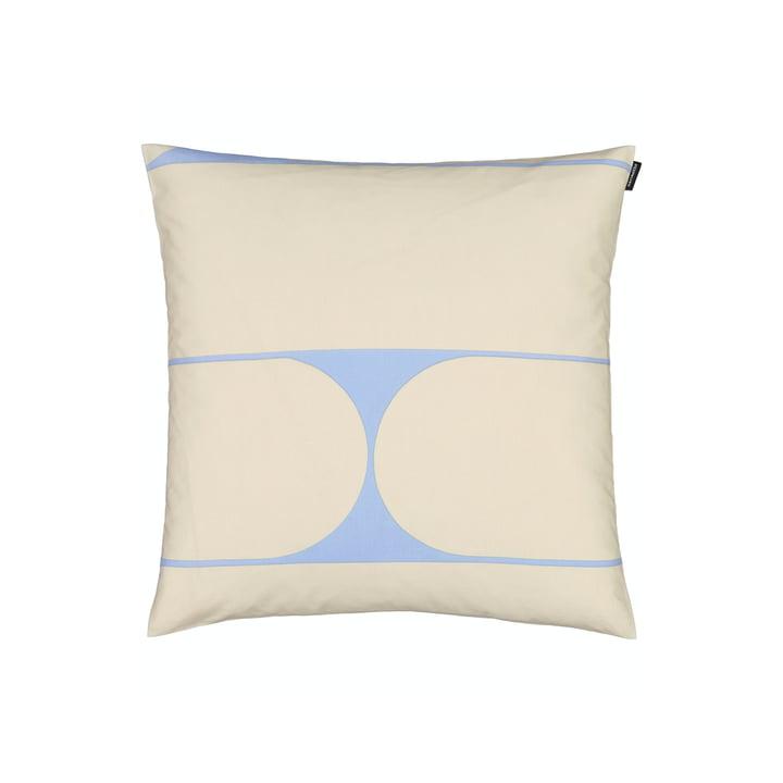 The Putki pillowcase by Marimekko, 50 x 50 cm, beige / blue