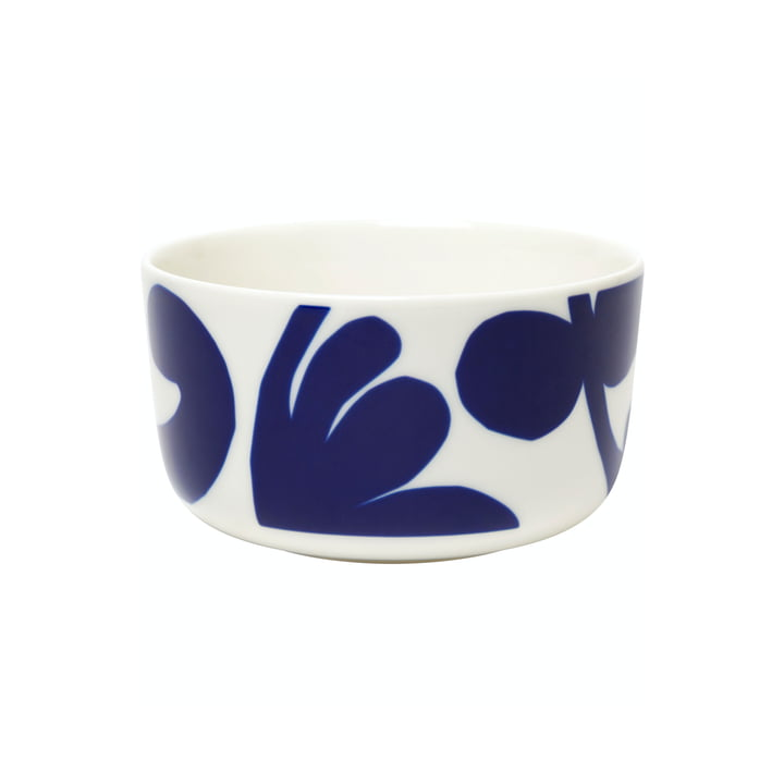 The Ruudut bowl by Marimekko, 500 ml, white / blue
