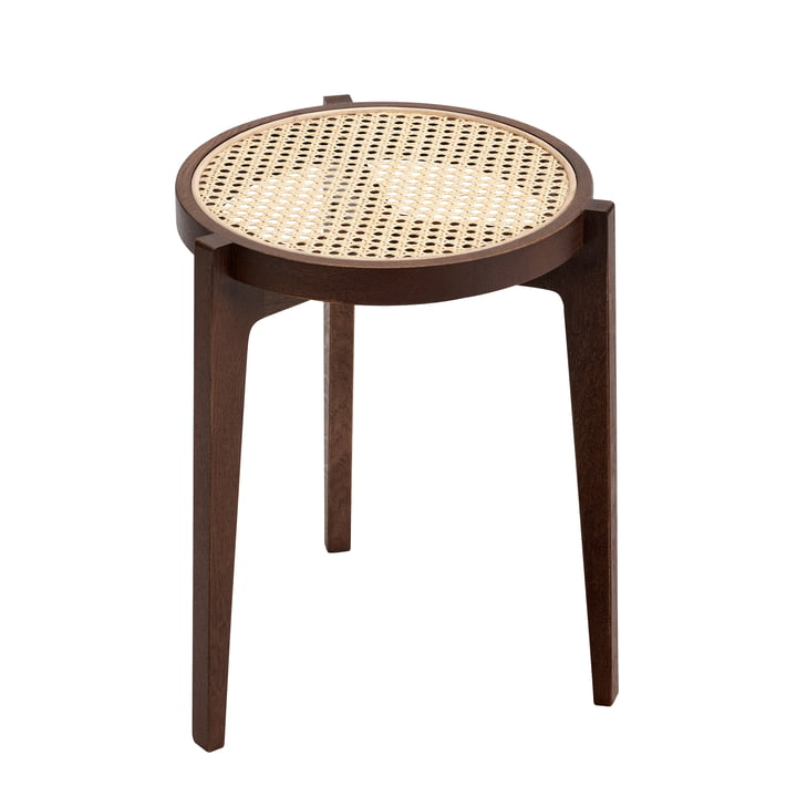Le Roi Stool with wickerwork, dark stained oak from Norr11