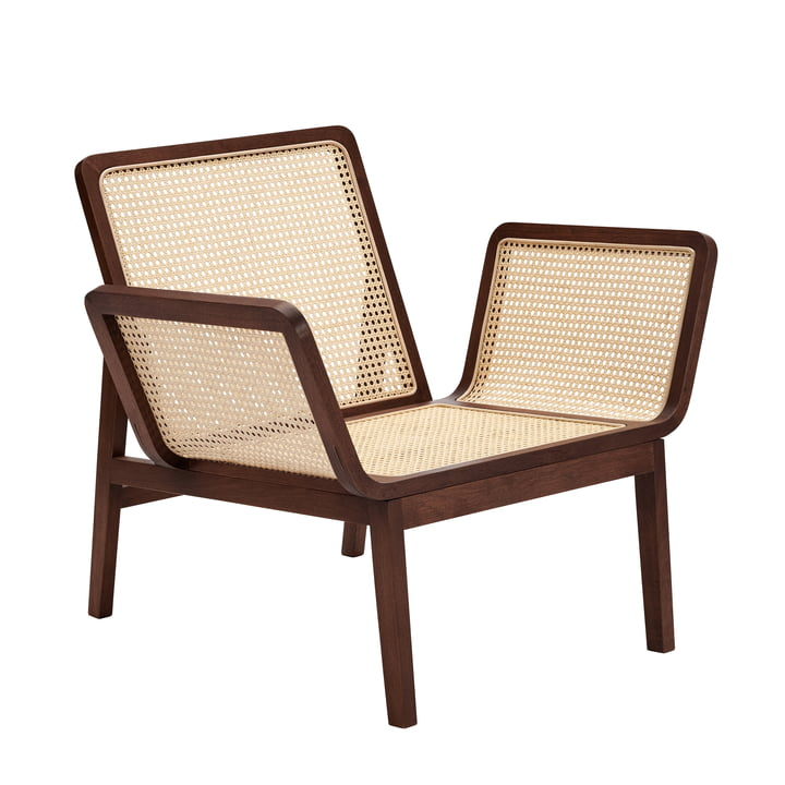 Le Roi Lounge armchair with wickerwork, dark stained oak by Norr11
