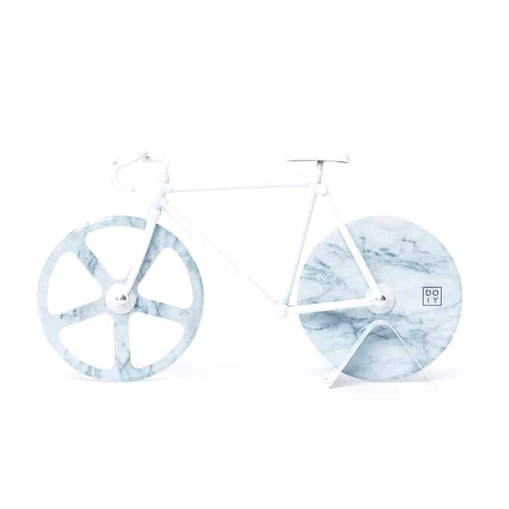 Doiy - Fixie Pizza cutter, White Marble