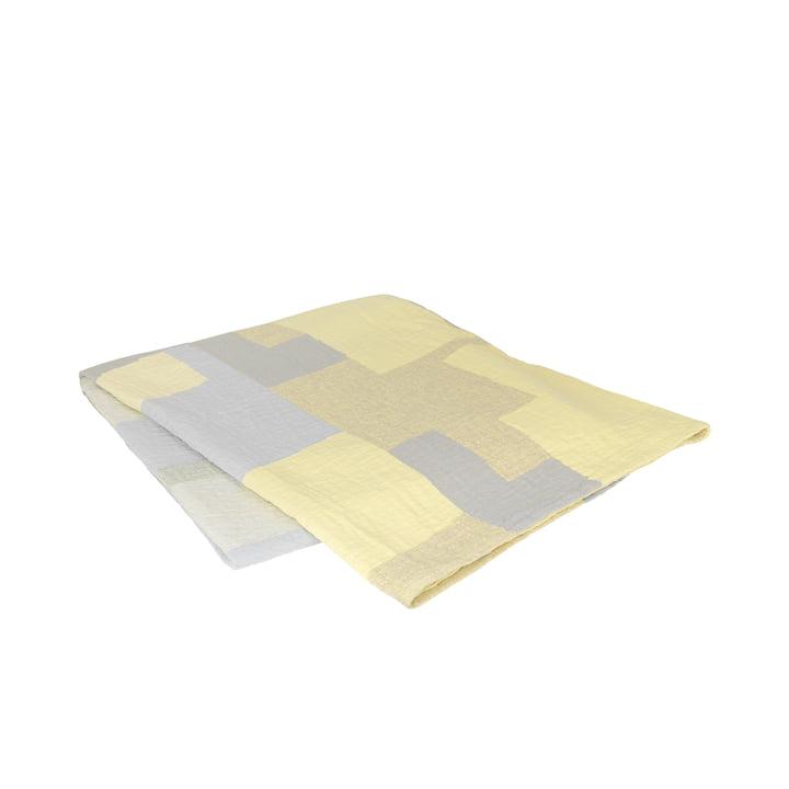 The Patch bedspread from Broste Copenhagen in yellow / grey, 240 x 260 cm