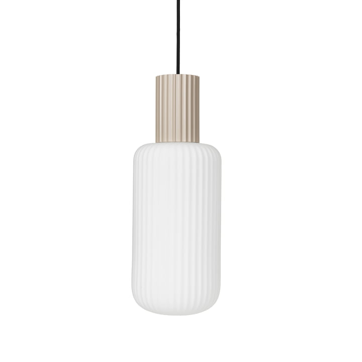 The Lolly pendant lamp from Broste Copenhagen in sand / white, Ø 16 cm
