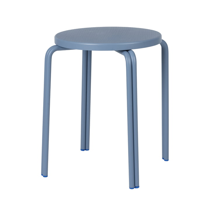 The Oda stool from Broste Copenhagen in blue