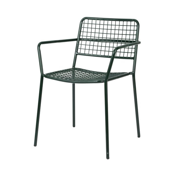 The Gerda armchair Outdoor from Broste Copenhagen in deep forest