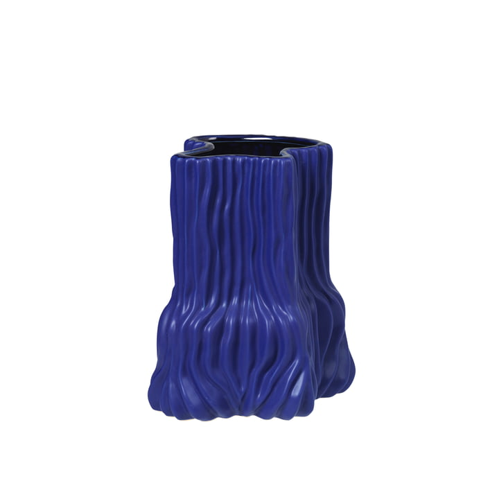 The Magny vase from Broste Copenhagen in dark blue, h 23,5 cm