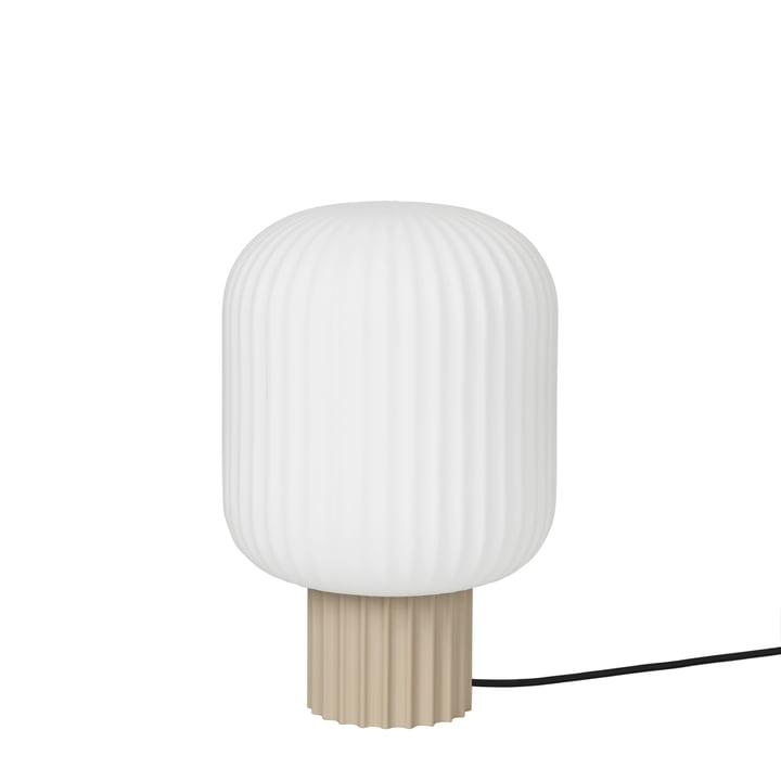 The Lolly table lamp by Broste Copenhagen in sand / white, Ø 20 x H 30 cm