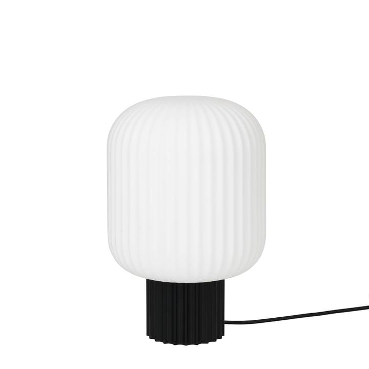 The Lolly table lamp by Broste Copenhagen in black / white, Ø 20 x H 30 cm