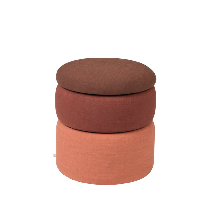 The Pond pouf from Broste Copenhagen in rustic shades, Ø 68 x H 30 cm