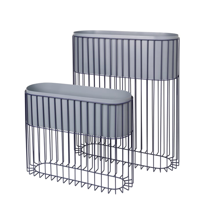 The Fenja rack with planter from Broste Copenhagen (set of 2), insignia blue