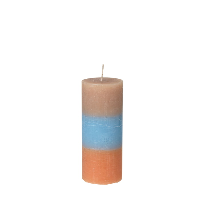 The Rainbow candle from Broste Copenhagen in caramel sky, Ø 7 x H 17 cm
