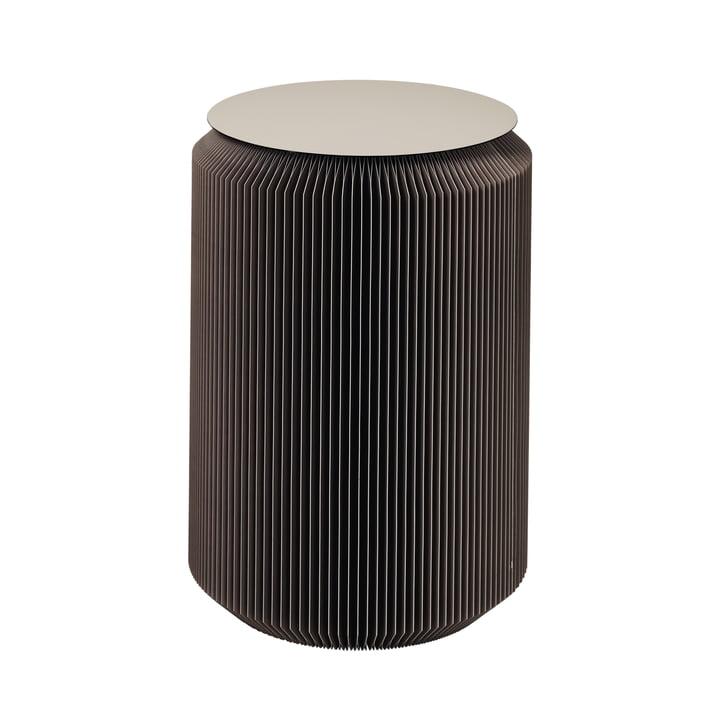 The Pam side table from Broste Copenhagen in dark grey, Ø 40 x H 60 cm