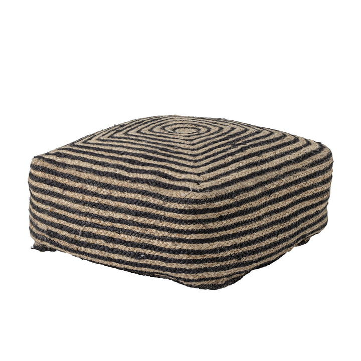 Nao Pouf 45 x 45 cm from Bloomingville in jute black