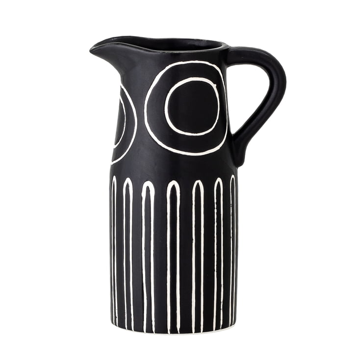 The Troy vase from Bloomingville in black, H 17 cm