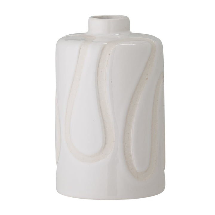 The Elice vase from Bloomingville in white, h 13 cm
