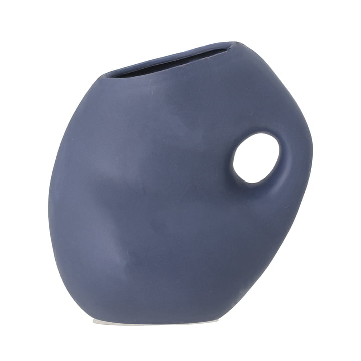 The Asya vase from Bloomingville in blue H, 16 cm