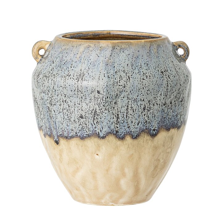 The Ika flower pot from Bloomingville in blue, Ø 14 cm