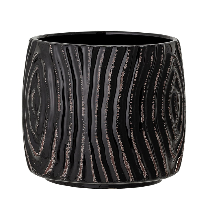 The Atena flower pot from Bloomingville in black, Ø 13,5 cm