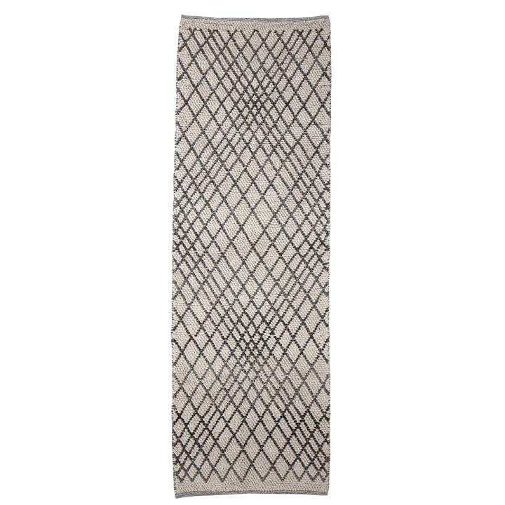 The Kaya carpet from Bloomingville , 250 x 80 cm, grey