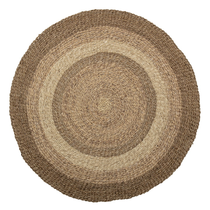 The Malic carpet from Bloomingville , Ø 150 cm, sea grass natural