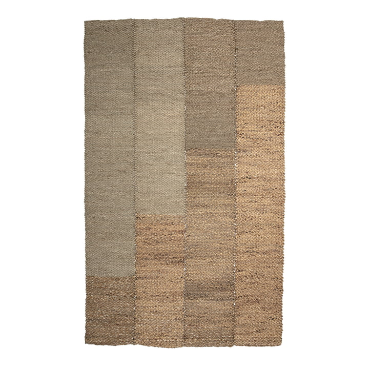 The Enzov carpet from Bloomingville , 245 x 150 cm, sea grass natural