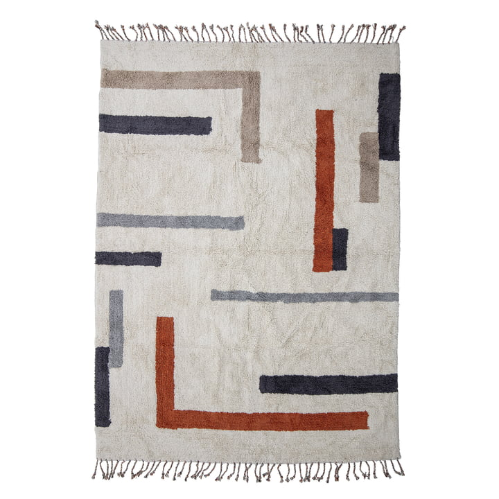 The Jue carpet from Bloomingville , 200 x 140 cm, nature