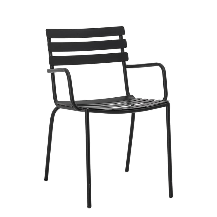 Monsi Outdoor Armchair from Bloomingville in black