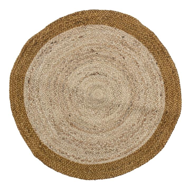 Birk Carpet, Ø 90 cm from Bloomingville in brown