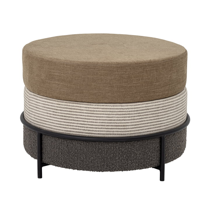 Como Pouf Ø 60 x H 40 cm from Bloomingville in brown / off-white