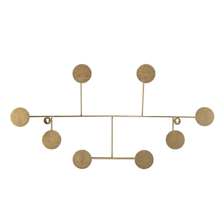 The Fia wall coat rack from Bloomingville , brass