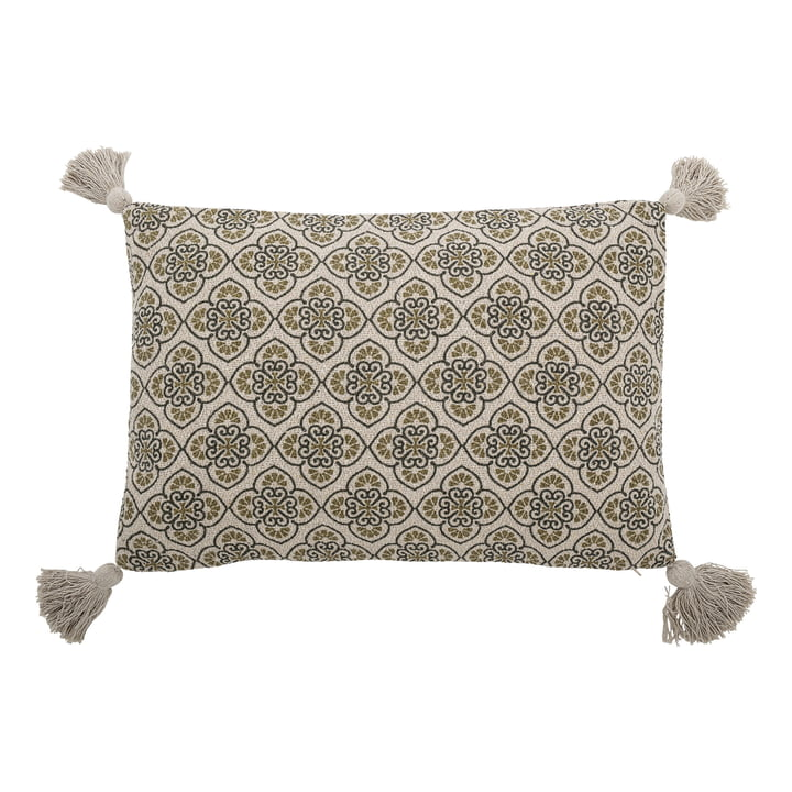 The Cila cushion from Bloomingville , 40 x 60 cm, green