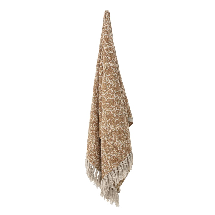 The Cianna blanket from Bloomingville , 130 x 160 cm, brown