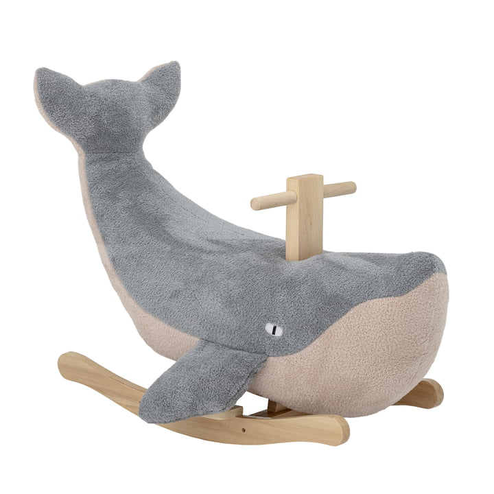 Moby Whale rocking animal from Bloomingville in blue