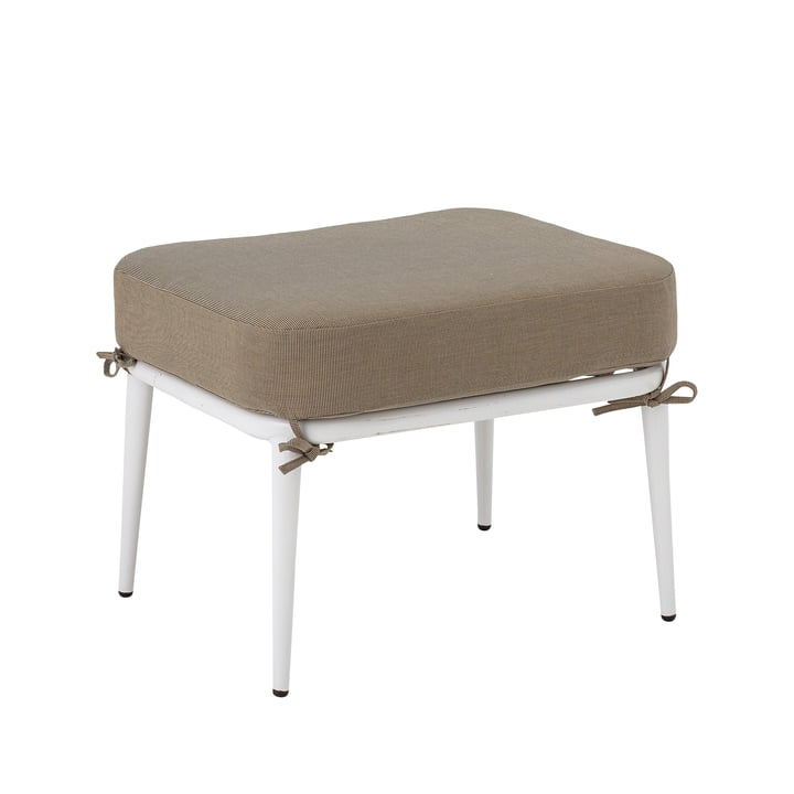 Cia Stool Outdoor from Bloomingville in white / brown